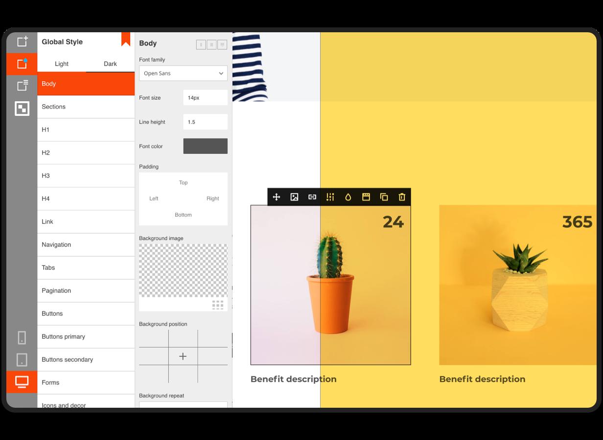 LaraBuilder - Laravel Drag&Drop Générateur de site HTML SaaS - 2