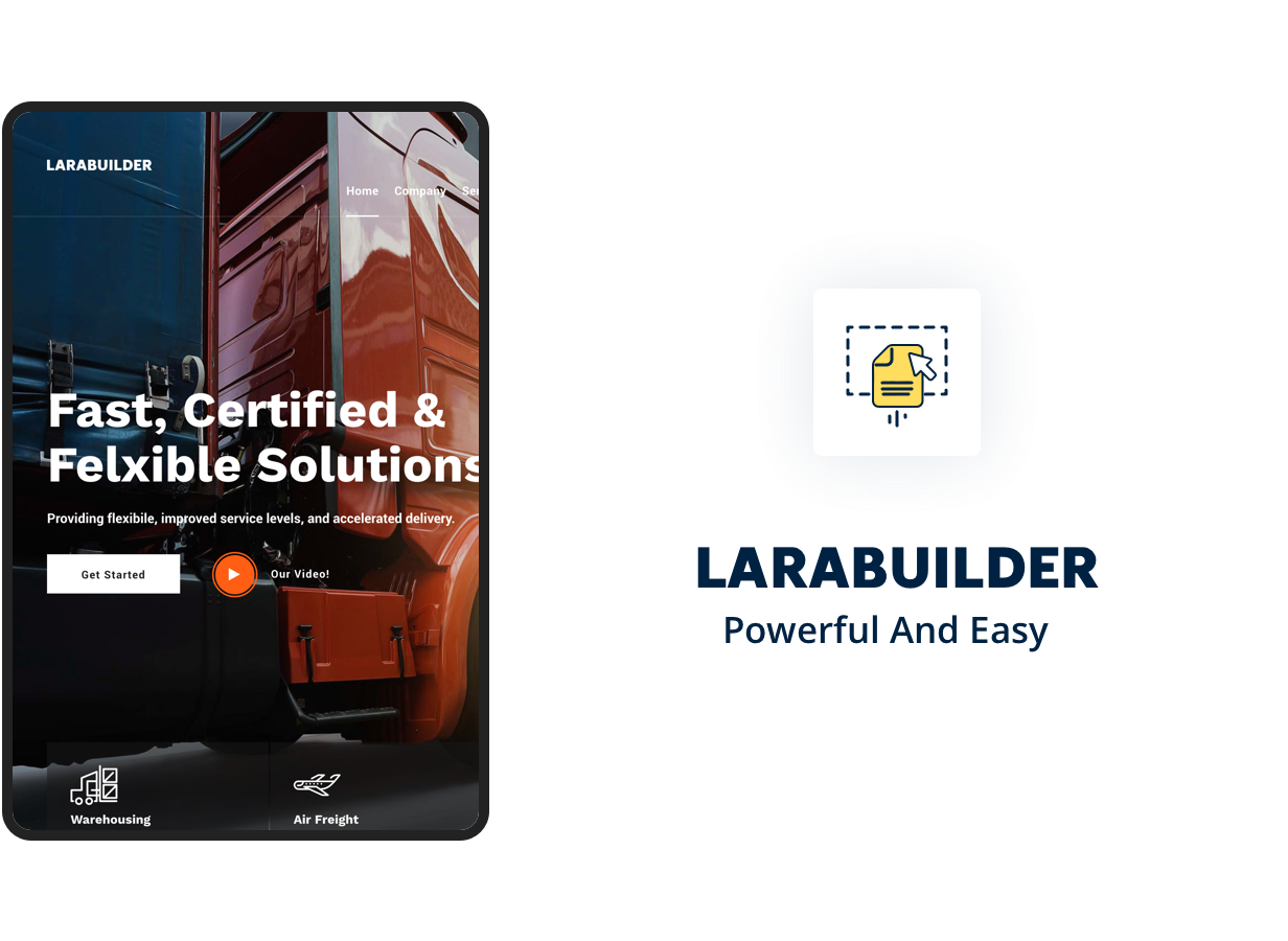 LaraBuilder - Laravel Drag&Drop SaaS HTML site builder - 2